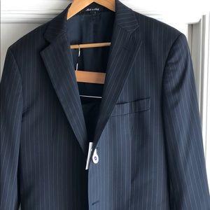 38 regular men's theory suit pinstripe